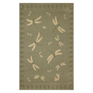 Trans Ocean Import Co Terrace Dragonfly Indoor / Outdoor Rugs Terracotta