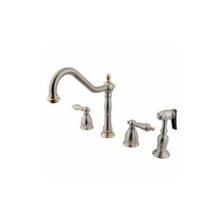 Elements of Design EB1799ALBS Universal Two Handle Kitchen Faucet With Spray