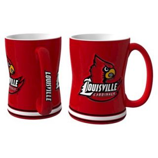 Boelter Brands NCAA 2 Pack Louisville Cardinals Sculpted Relief Style Coffee