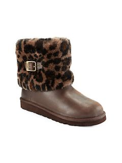 UGG Australia Toddler & Girls Elee Leopard Print Boots   Brown Leopard