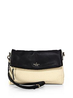 Kate Spade New York Cobble Hill Carson Mixed Media Crossbody Bag   Natural Black