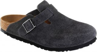 Birkenstock Boston Suede Soft Footbed   Velvet Gray Suede Casual Shoes