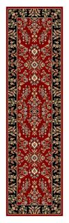 Lyndhurst Collection Red/ Black Runner (23 X 8) (RedPattern OrientalMeasures 0.375 inch thickTip We recommend the use of a non skid pad to keep the rug in place on smooth surfaces.All rug sizes are approximate. Due to the difference of monitor colors, s