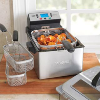Waring Digital Deep Fryer w/ Removable Oil Container & Timer, 2.3 lb Food Capacity