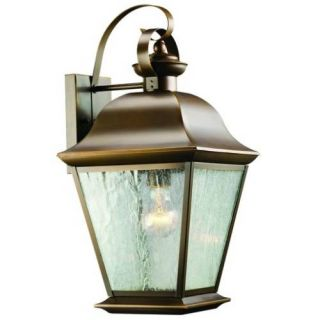 Kichler 9709OZ Outdoor Light, Classic (Formal Traditional) Wall 1 Light Fixture Olde Bronze