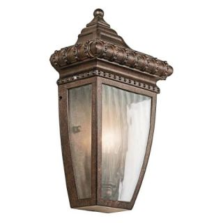 Kichler 49130BRZ Outdoor Light, Classic (Formal Traditional) Wall Lantern 1 Light Fixture Bronze