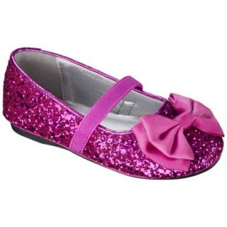 Toddler Girls Jayna Glitter Ballet Flat   Bright Pink 5