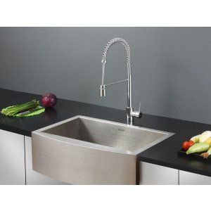 Ruvati RVC2421 Combo Stainless Steel Kitchen Sink and Chrome Faucet Set