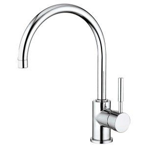 Water Creation F5 0003 01 Monroe Gooseneck Kitchen Faucet With Mounting Plate an