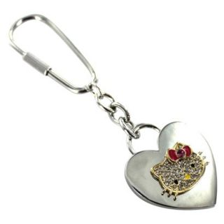 Hello Kitty Heart Key Chain   Silver