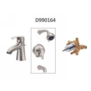 Danze D990164 Corsair  Single Handle Lav Faucet, Tub & Shower Trim, & Valve (Com