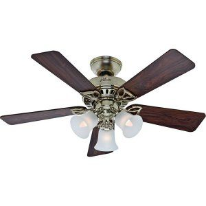 Hunter HUF 53080 The Beacon Hill Small Room or Office Ceiling Fan with light