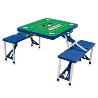 Picnic Time Blue Folding Picnic Table With Poker Imprint   811 00 139 982 0