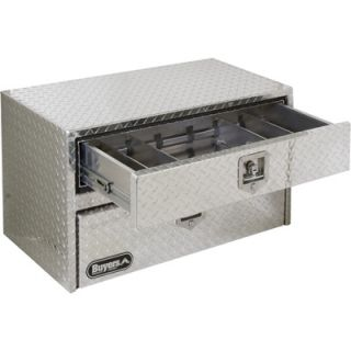 Buyers Products Aluminum Underbody Truck Box with Drawer   Diamond Plate, 36in.