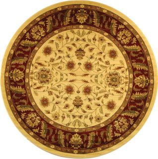 Lyndhurst Collection Tabriz Ivory/ Red Rug (5 3 Round) (IvoryPattern OrientalMeasures 0.375 inch thickTip We recommend the use of a non skid pad to keep the rug in place on smooth surfaces.All rug sizes are approximate. Due to the difference of monitor