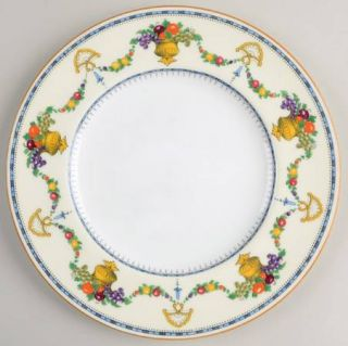 Royal Cauldon Malvern (Cream Rim, Urns) Salad Plate, Fine China Dinnerware   Cre