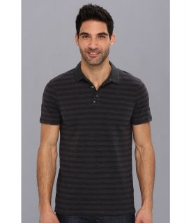Calvin Klein Jeans Heather Stripe 1 Pocket Polo Mens Short Sleeve Pullover (Brown)