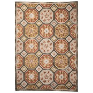Threshold Indoor/Outdoor Mosaic Area Rug   Red/Gold (7x10)