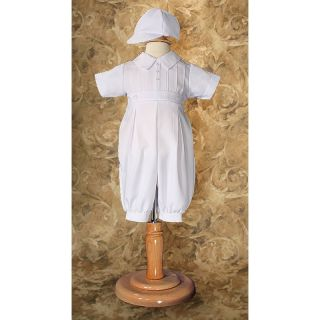 Vaughan Gabardine Christening Outfit with Cap Multicolor   GB53CS 12, 12 months