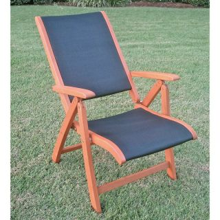 Royal Tahiti 5 Position Folding Patio Chair   Set of 2 Multicolor   TT PC 027