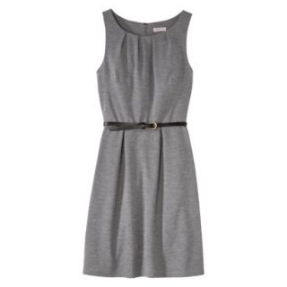 Merona Womens Textured Sleeveless Belted Dress   Heather Gray   L