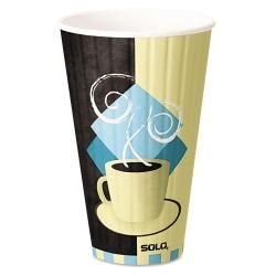 Solo Duo Shield Hot Insulated 20 oz Paper Cups (case Of 350) (Chocolate/light blue/tan Style Tuscan Capacity 20 ouncesQuantity Case of 350  )