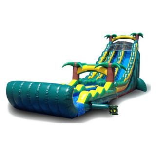 EZ Inflatables 27 ft. Tropical Water Slide Multicolor   WS219