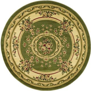 Lyndhurst Collection Sage/ivory Area Rug (8 Round)