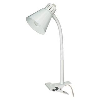 Nuvo Clip On Goose Neck Lamp   White   60/840