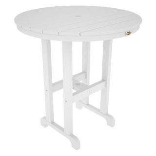 Trex Outdoor Furniture Monterey Bay Round Counter Height Table   TXRRT236CW