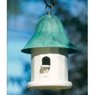 Lazy Hill Farms Blue Verde Copper Roof Copper Top Bird House   43430