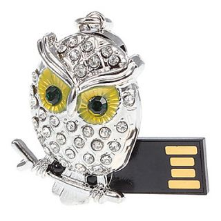 8G Metal Night Owl USB Flash Drive