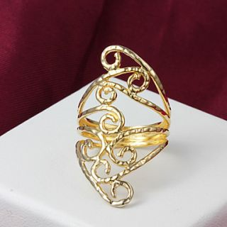 High Quality Amazing Gold Plated Irregular Pierced Womens Ring