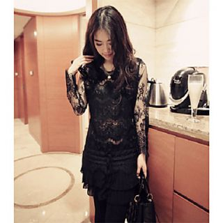 Womens Dual Layer Lace Dress