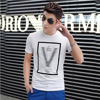 Mens Summer Round Neck Fashion Casual Short Sleeve Slim T shirt(Acc Not Included)