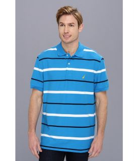 Nautica S/S Striped Deck Polo Shirt Mens Short Sleeve Pullover (Multi)