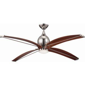 Ellington Fans ELF TRD60PLN4 Tyrod 60 Ceiling Fan with Integrated Light Kit, Bl