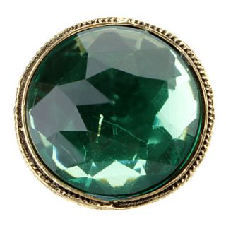 Luxury Dazzling Green Elves Big Gem Restoring Ring