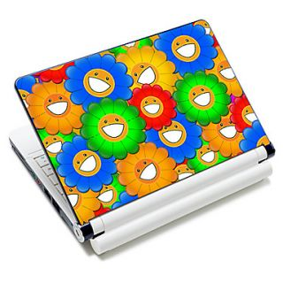 Flower Smile Face Pattern Laptop Notebook Cover Protective Skin Sticker For 10/15 Laptop 18343