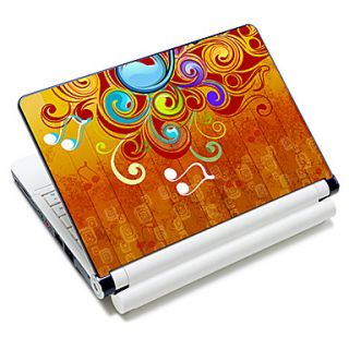 Music Note Pattern Laptop Notebook Cover Protective Skin Sticker For 10/15 Laptop 18365