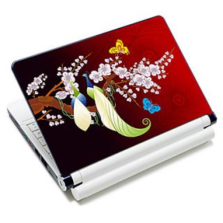 Romantic Peacock Pattern Laptop Notebook Cover Protective Skin Sticker For 10/15 Laptop 18378