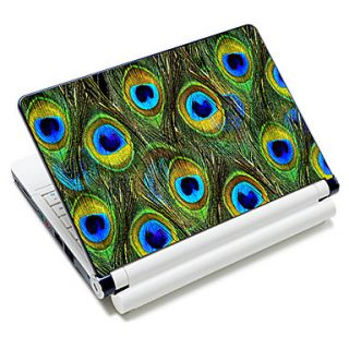 Peacock Feather Pattern Laptop Notebook Cover Protective Skin Sticker For 10/15 Laptop 18382
