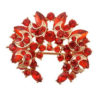Fashion Gold Plated Alloy With Crystal/Rhinestone Brooch(More Colors)