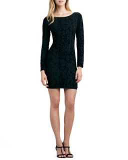 Womens Tabitha Fitted Velvet Dress   Alice + Olivia