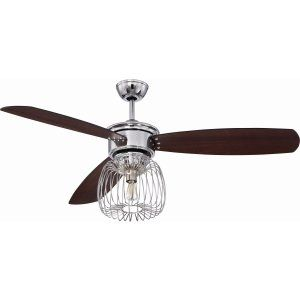 Ellington Fans ELF LAR54CH3 Lark 54 Ceiling Fan with Integrated Light Kit, Blad
