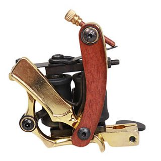 Cast Iron Tattoo Machine Gun Shader(Gold)