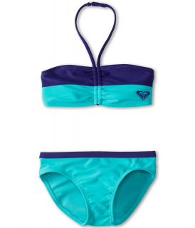 Roxy Kids Little Beauty Drawstring Bandeau Set Girls Swimwear Sets (Multi)