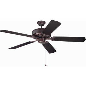 Ellington Fans ELF E52OB Pro 52 Ceiling Fan Motor only with Optional Light Kit