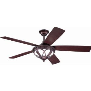 Ellington Fans ELF ART52OB5 Artesia 52 Ceiling Fan with Integrated Light Kit, B
