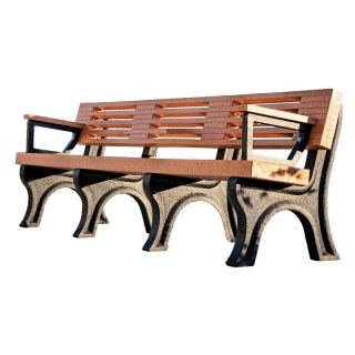 Elite Commercial Grade Park Bench   ASM EB4BA 02 BLK BLK